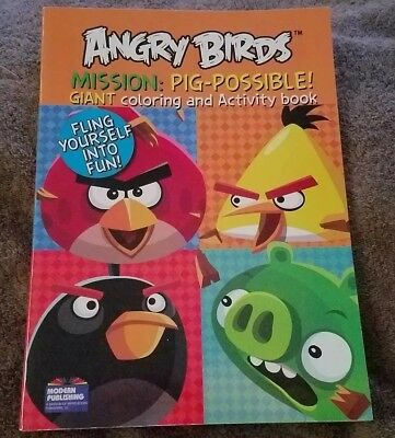 Four Angry Birds Coloring Books