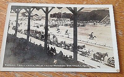 Parade, Trail Creek Freight Train, Round- Up Sun Valley, Idaho Postcard, PHOTO