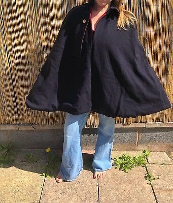 Vintage Nurses Cape Cloak Call the Midwife WW2 re-enactment Original Wool