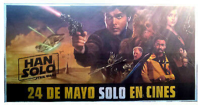 Large SOLO: A STAR WARS STORY original 12 sheet billboard poster unused - Unique
