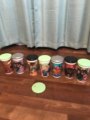 Batman Returns McDonald's Cups Lot Set w/ Disc Lids Coca Cola 1992 Mint