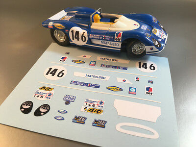 Stickers Pour Matra 650 #146 Jouef 1/40 (No Decal Ideal Slot) Dcs004