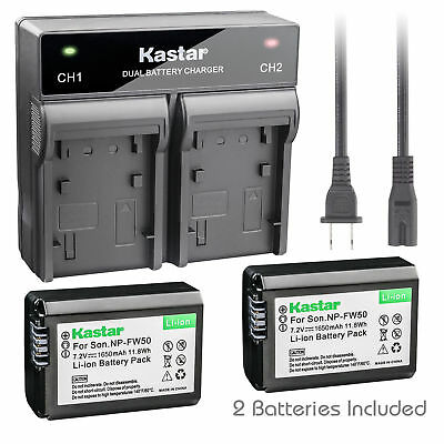 NP-FW50 Battery or Dual Charger for Sony ILCE-6000 Alpha a6000, NEX-C5, NEX-F3