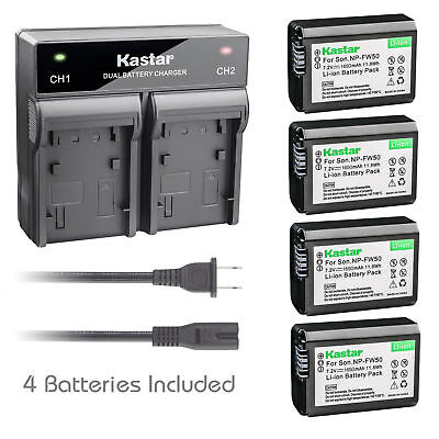 NP-FW50 Battery or Dual Charger for Sony ILCE-7R Alpha 7R a7R, NEX-5N, NEX-5R