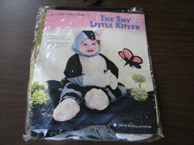 "Infant Size  ( 12-18 months  ) Halloween Costume   ""  The Shy Little Kitten  """