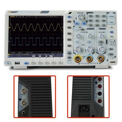 200MHz Digital Oscilloscope 2 CH LCD 1GS/s 8bits USB LAN AUX Measurement Station