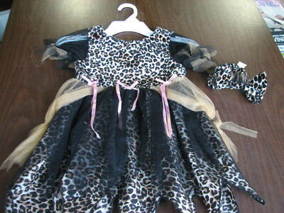 Infant Size  ( 18-24 months  ) Halloween Costume ~ Leopard Dress W/ Head Band