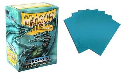 Dragon Shield - Turquoise 100 Protective Sleeves Cases Standard Card Holder