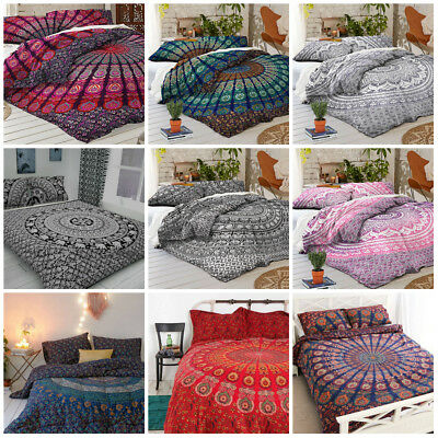 Hippie Bohemian Bedding Bedspread Coverlet Indian Mandala Bed Cover Tapestry