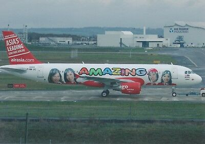 Air Asia (Malaysia) - Airbus A320-216 - F-Wwbc - Toulouse - 01/2007 - Postcard