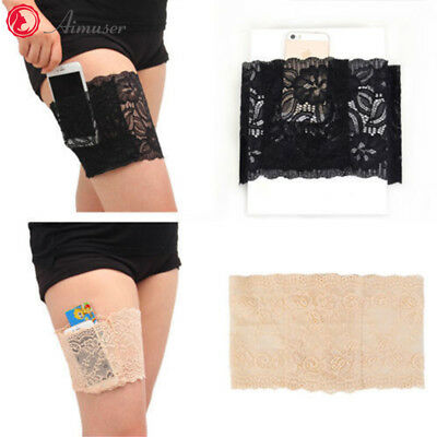 UK Stock Lace Socks Anti-Chafing Thigh Pocket leg Bands Prevent Chafing Non Slip