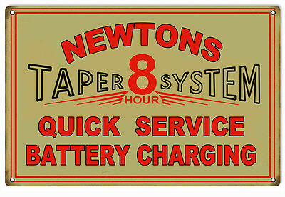 Newtons 8 Hour Battery Service Gas Station Sign