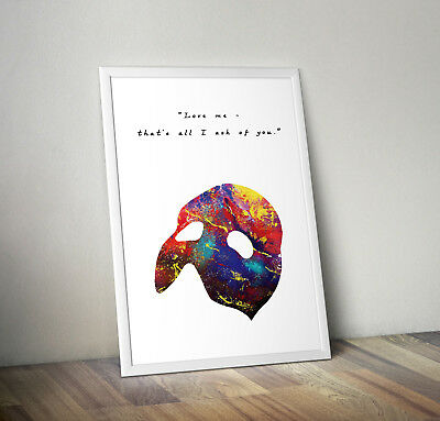 phantom of the opera inspired musical poster print wall art gift merchaindise
