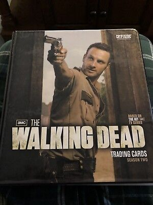 Walking Dead Season 2 Binder Complete With Base, Inserts And Binder Exclusive