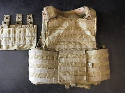 Eagle Industries Plate Carrier Large MOLLE Coyote LE Duty w/Armor & Triple Mag