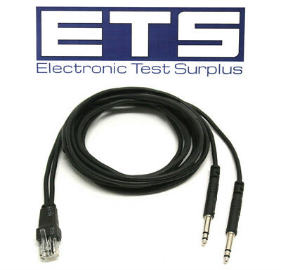 RJ45 Plug To Dual Bantam Plug Test Cable