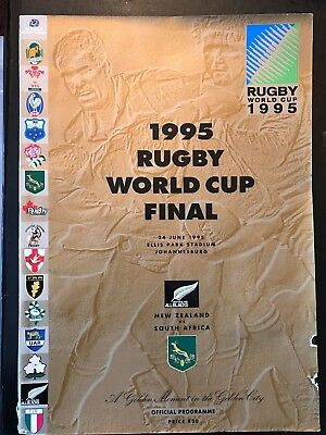 9566 - Rugby World Cup 1995 RWC - FINAL - New Zealand v South Africa Programme