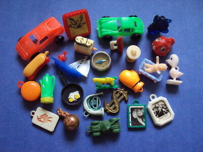 Vtg Gumball Charm Lot #1 vending machine large group Cracker Jack toy prize