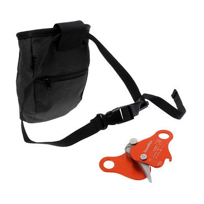 Outdoor Rock Climbing Chalk Bag & 24KN Rope Grab Protecta Tree Arborist Gear