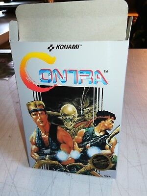 Contra NES Art Case/Replacement Box Only! Nintendo Entertainment System!!!