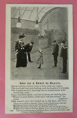 """Postcard, Song Card """"Give Me a Ticket to Heaven"""""""