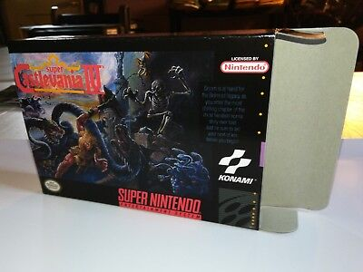 Super Castlevania IV 4 Box Only, SNES Nintendo Replacement Art Case/Box!