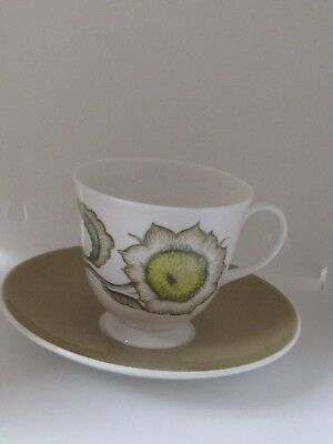 Susie Cooper Sunflower Breakfast cup and saucer vgc