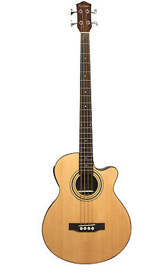 Acoustic Electric Bass Guitar built in tuner iMusicGuitar iBass243EQ