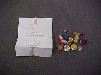 Scarce Orig WW1 Medal Group & Document East African Motor Transport Corps