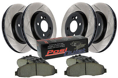 StopTech 934.44009 Street Performance Pads + Slotted Front and Rear Rotors BNIB