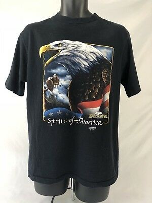 Mens Down To Earth Nature Wear 3D Emblem Spirit Of America Large Shirt