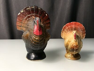 Vintage 1950s Gurley Novelty Company Thanksgiving Turkey Candles