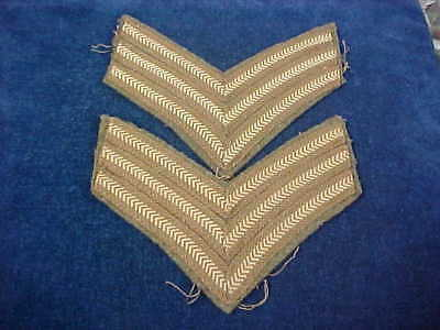 Orig WW2 Pr Matching Sergeants Stripes For Battle Dress Tunic Uniform Removed