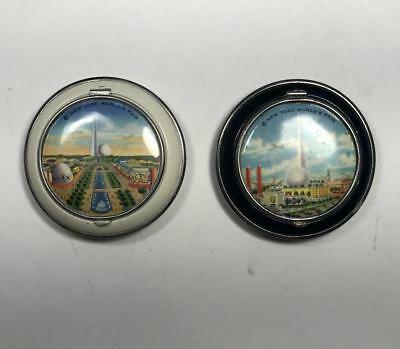 TWO 1939 New York World's Fair vintage COMPACTS