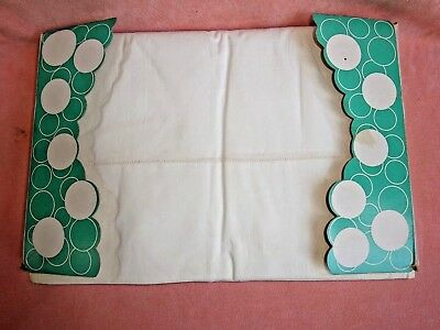Lot of 2 Vintage Cannon White Combspun Percale Flat Sheets Hemstitched Unused