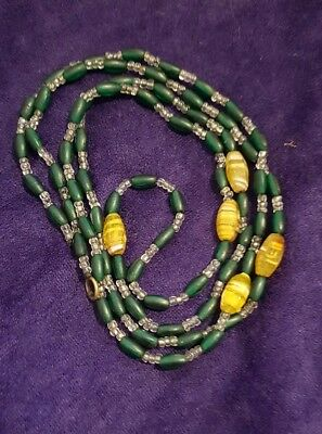 Vintage antique edwardian 1920's flapper Venetian Murano glass beads necklace