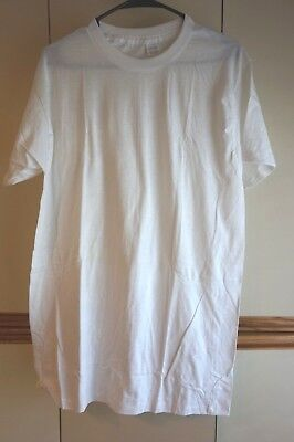 Deadstock Jockey Blank White T-shirt Made in USA Mint Large Tall Man 42-44