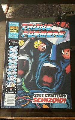 Transformers Comic #309 Marvel UK low print run RARE + Free Gift MOVIE MARK