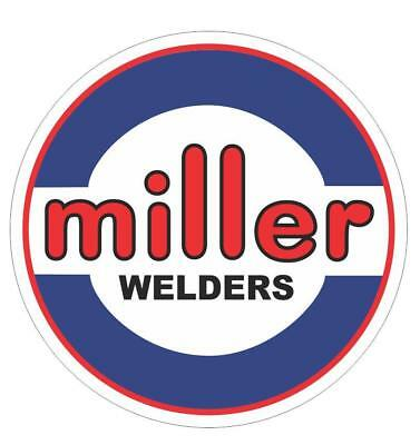 "Miller Electric Welders 6"" Blue, White & Black, Red Decals,1-Pair"