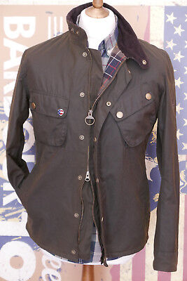 £249 Mens Barbour Steve McQueen 9665 olive waxed jacket M Medium 36/38
