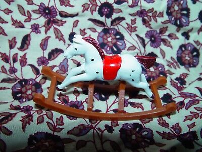 12th SCALE VINTAGE 'BARTON' STYLE ROCKING HORSE FOR THE DOLL HOUSE NURSERY