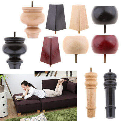 Replacement Furniture Leg Couch Feet Sofa Bed Risers Solid Wooden