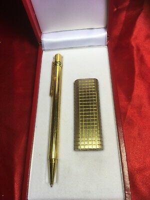 CARTIER  VINTAGE BALLPOINT  PEN TRINiTY + LIGHTER  IN BOX