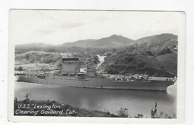 Panama Canal Zone USS Lexington in Panama Canal c. 1930