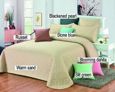 [50%OFF!]Emboss Bedspread//Coverlet/Throw-Single Double Queen King Size 14637