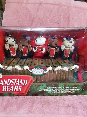 Bandstand Bears by Mr. Christmas Plays 35 Christmas Carols On A Real Xylophone