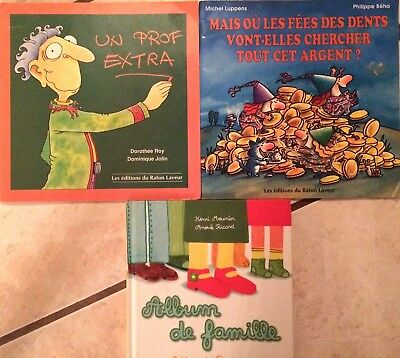 Lot of 3 French children's books for young children