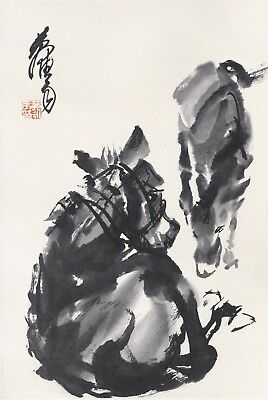 ATTRIBUTED TO Zhou Huang (Chinese painting ) 黄胄 (9)