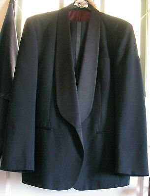 Tuxedo Dinner Suit Classic One Button, Former Rental, Boxed and Ships for Free!
