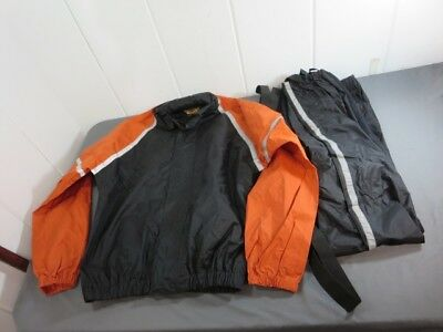 Genuine Harley Davidson 2 pc. Rain Suit with Suspenders High Visibility